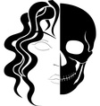 face ghost vector image