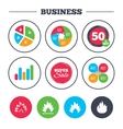 Fire flame icons Heat signs vector image vector image