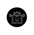 fitness equipment black concept icon vector image