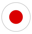 flag of japan vector image
