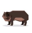 flat geometric hippopotamus vector image vector image