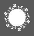 floral wreath black and white graphics vector image