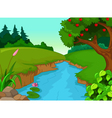forest with river vector image vector image