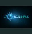 futuristic coronavirus covid-19 inscription web vector image vector image