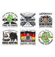 germany travel and tourism icons vector image