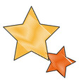 Gold star icon favorite business internet trendy vector image