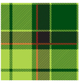 Green Tartan Plaid Design vector image vector image