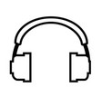 headphone outline icon headphone isolated vector image