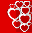 hearts for valentine s day vector image