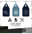 Labels icon set Auto part design graphic vector image