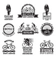 labels set for bicycle club velo sport logos vector image vector image