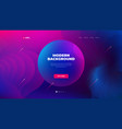 liquid color background design for landing page vector image vector image