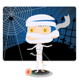 Little Mummy Boy vector image vector image