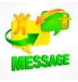 Message speech bubbles vector image vector image