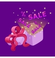 Open gift box Sale vector image vector image