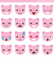 Piggy emoticons vector image vector image