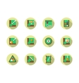Poolroom round flat color icons set vector image vector image