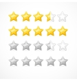 Rating stars isolated on white vector image vector image