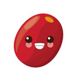 red coffee seed kawaii cartoon vector image