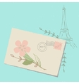 Romantic Letter to Paris vector image