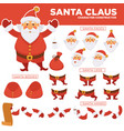 santa clause character constructor with spare body vector image