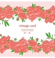 Save the Date Floral Card vector image