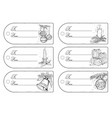 set of hand drawing christmas tags vector image