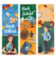 student teacher classroom with school supplies vector image