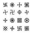 Swastika cross and others symbols icons se vector image vector image