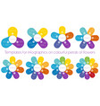 templates for infographics on colourful petals of vector image vector image