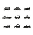 transportation vehicle public cars taxi city vector image