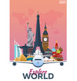 travel poster discover europe vacation trip to vector image
