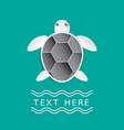 turtle on turquoise color background vector image