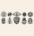 vintage brewing monochrome emblems vector image