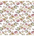 Watercolor seamless pattern on white background vector image vector image