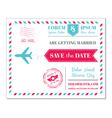 Wedding Invitation Card - Vintage Postcard vector image