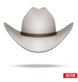 White cowboy hat Isolated on white background vector image vector image