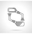 Bike mirrors line icon vector image
