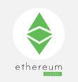 ethereum classic etc cripto currency logo vector image