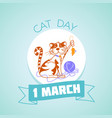 1 march cat day vector image vector image