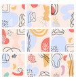 abstract backgrounds set hand drawn modern trendy vector image vector image