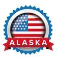 Alaska and USA flag badge vector image vector image
