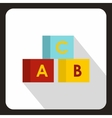 Alphabet cubes with letters ABC icon vector image vector image