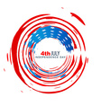american independence day design vector image vector image