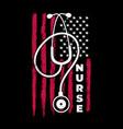 american nurse shirt flag nurse vector image