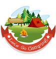 Banner design with camping theme vector image