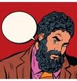 Bearded African American black people vector image vector image