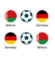 belarus versus germany - banner for soccer vector image vector image