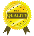 Best Quality Guaranteed Label isolated on a white vector image vector image