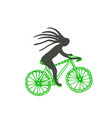 bike with cyclist icon poster sticker vector image vector image